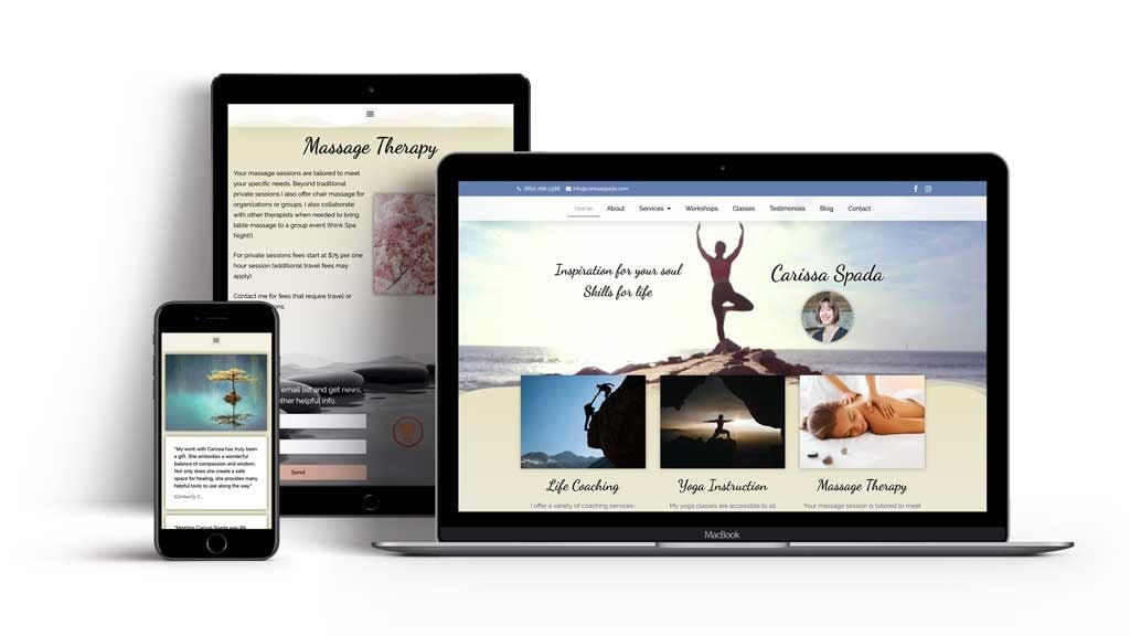 Your website on any device. Intelligent, responsive websites.
