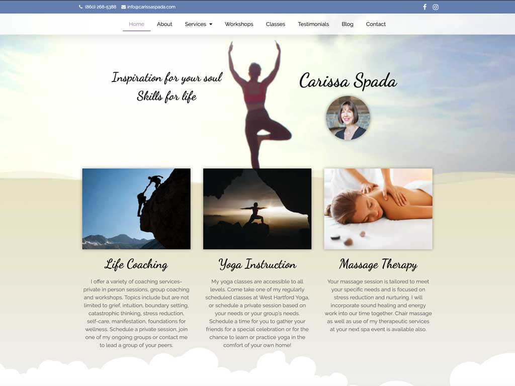 Purposeful, informational, functional websites with a touch of grace and beauty