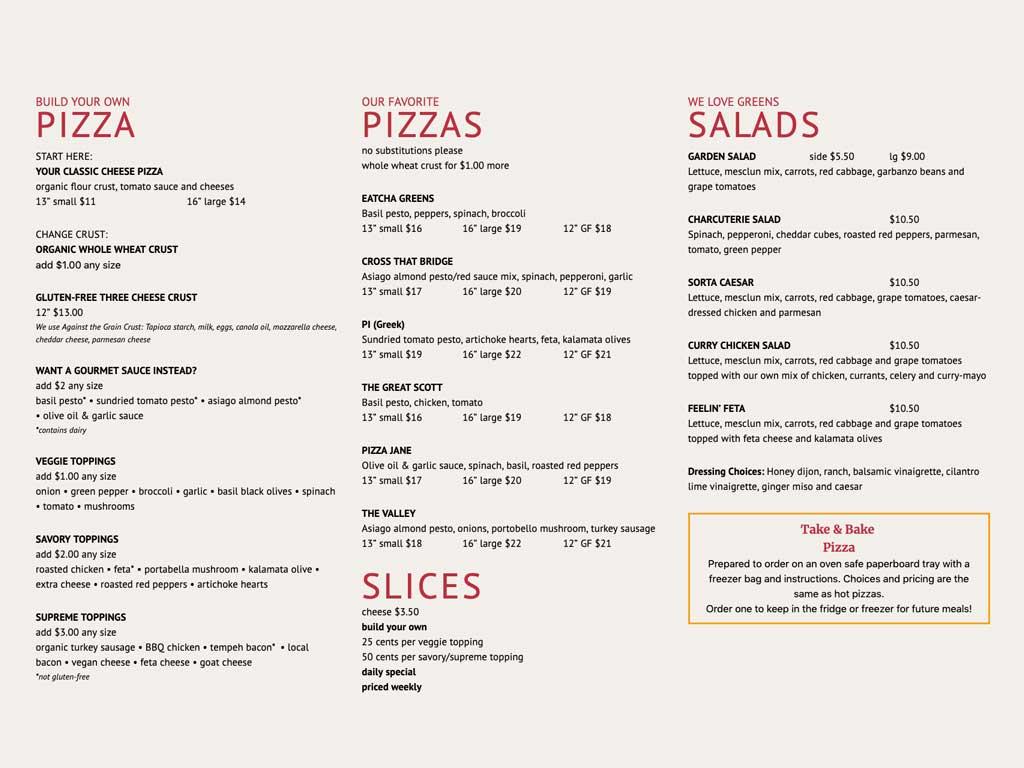 Beautifully designed restaurant menus with optional online ordering capabilities